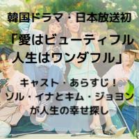 韓国ドラマ・日本放送 愛はビューティフル人生はワンダフル キャスト あらすじ ネタバレ