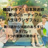 韓国ドラマ・日本放送 愛はビューティフル人生はワンダフル 第13話から16話 あらすじ ネタバレ